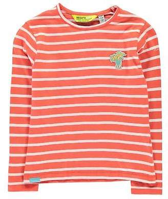 Regatta Kids Girls Carella T Shirt Junior Long Sleeve Performance Top Crew Neck