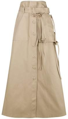 MM6 MAISON MARGIELA high-waisted flared skirt