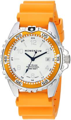 Momentum Women's Quartz Stainless Steel and Rubber Diving Watch, Color: (Model: 1M-DN11LO1O)