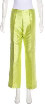 Carmen Marc Valvo High-Rise Silk Pants