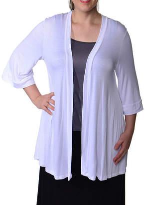 24/7 Comfort Apparel Open Shrug Cardigan-Plus