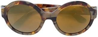 Dolce & Gabbana Eyewear oval-shaped mirrored sunglasses