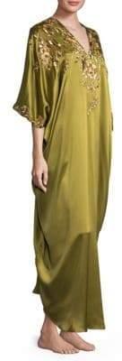 Natori Beaded Suzani Silk Caftan