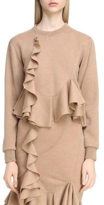Women's Givenchy Ruffled Wool Sweatshirt $1,945 thestylecure.com