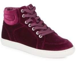 J/Slides Velvet High Top Sneakers