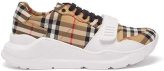 Burberry Regis Vintage Check Canvas Trainers - Womens - Tan Multi