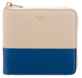 Celine Leather Zip Wallet
