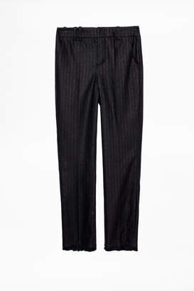 Zadig & Voltaire Posh Stripe Franges Pants