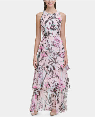 745df0682c1 Tommy Hilfiger Printed Chiffon Tier Maxi Dress