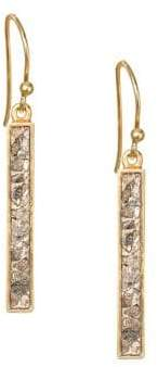 Shana Gulati Jemma Miladi Raw Diamond& 18K Yellow Goldplated Rectangle Earrings