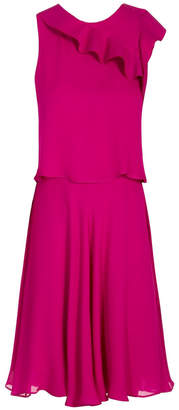Emporio Armani Ruffle Front Dress