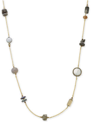 Paul & Pitu Naturally Gold-Tone Beaded Rope Necklace