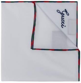 Gucci script pocket square
