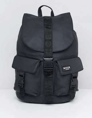 Nicce London buckle backpack in black