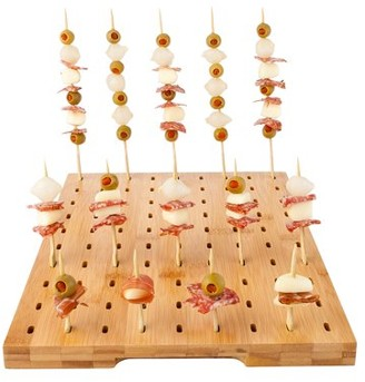"""Restaurantware Natural Bamboo Paddle Pick Stand - 90 slots - 14 1/4"""" x 10"""" x 1"""" - 1 count box"""