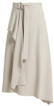 Joseph Sybil Belted Asymmetrical Skirt - Womens - Light Grey