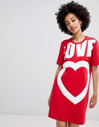 Love Moschino Heart logo t-shirt dress