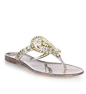 Jack Rogers Women's Sparkle Georgica Jelly Sandals