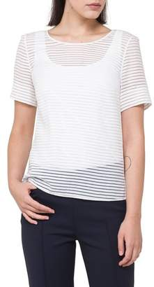 Akris Punto Illusion Stripe Tee