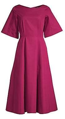 Derek Lam Women's Short Sleeve A-Line Midi Dress