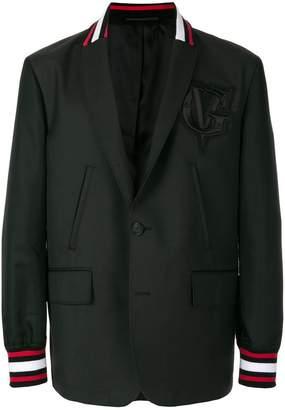 Givenchy contrast trim felpa hybrid jacket