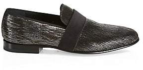 Saks Fifth Avenue Metallic Formal Loafers