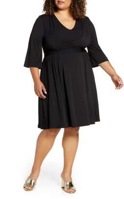 ELOQUII Tie Front Knit Dress
