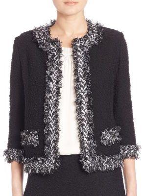 St. John Fringe-Trim Boucle Jacket $1,495 thestylecure.com