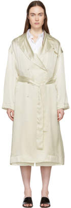 Mansur Gavriel Off-White Silk Classic Trench Coat