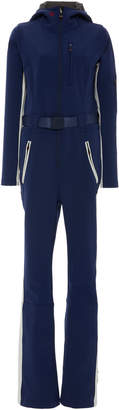 Perfect Moment GT Belted Striped Stretch-Shell Hooded Ski Suit