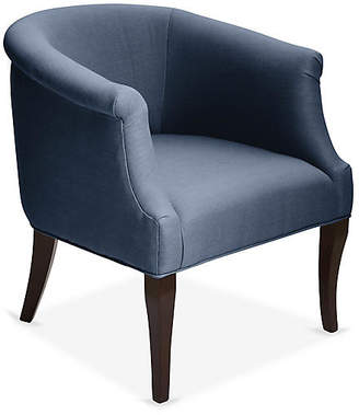 One Kings Lane Selby Club Chair - Navy Linen