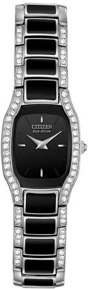 Citizen Eco-Drive Womens Black Resin Watch EW9780-57E