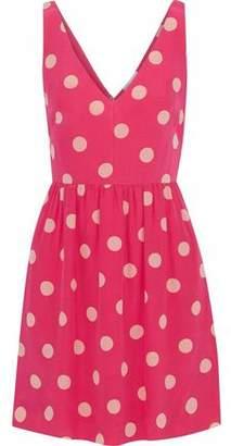RED Valentino Polka-dot Silk-crepe Mini Dress