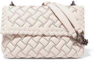 Bottega Veneta Olimpia Medium Studded Quilted Leather Shoulder Bag - Ecru