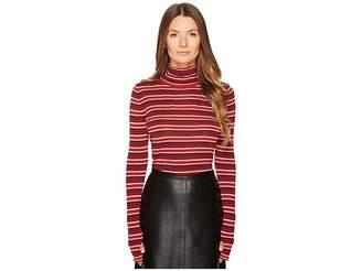 Sonia Rykiel Striped Wool Turtleneck Sweater Women's Sweater