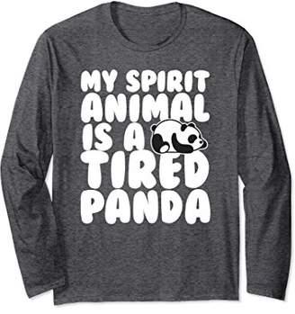 bfe3fe96830 Panda Long Sleeve Shirt - My Spirit Animal is a Tired Panda