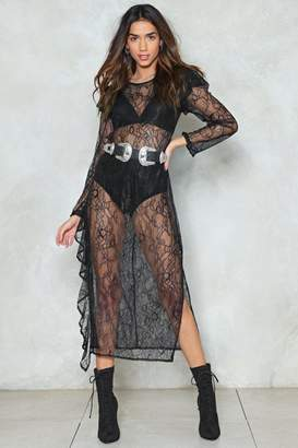 Nasty Gal Catch Feelings Sheer Dress