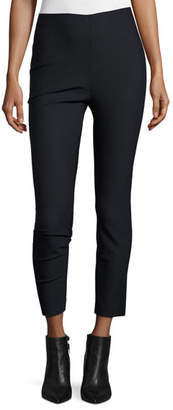 Derek Lam 10 Crosby Cropped Stretch Leggings, Midnight
