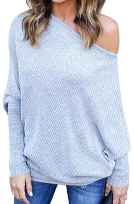 959f3fc77207 Ealafee Girl s Oversized Sweater Long Sleeve Loose Top Jumper Plus Size  Pullover