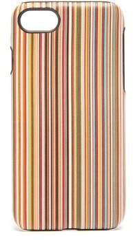 Paul Smith Signature Stripe Leather Iphone 8 Case - Mens - Multi