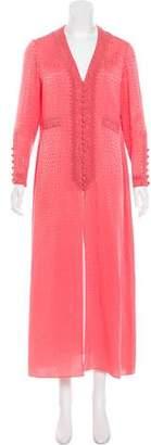 Oscar de la Renta Oversize Maxi Dress