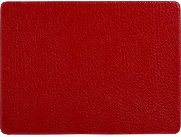 Dominic Red Faux Leather Placemat