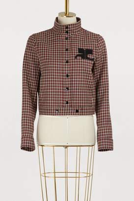 Courreges Wool short jacket
