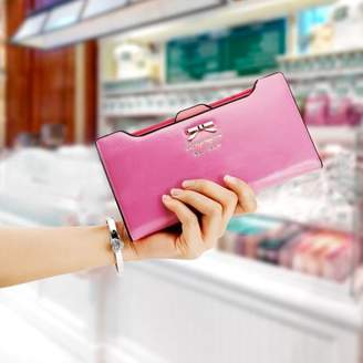 DOWL New Fashion Women Sweet Multi-Card Holder Long Wallet PU Leather Purse