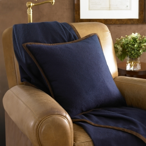 Ralph Lauren Suede & Cashmere Throw Pillow