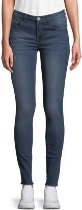Design Lab Raw Edge Skinny Jeans