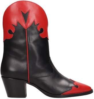 Paris Texas Tex Black Red Ankle Boots