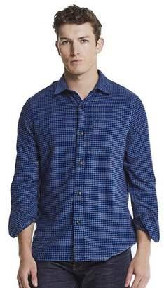 Todd Snyder Houndstooth Shirt Jacket in Navy
