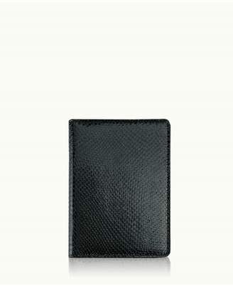 GiGi New York 7 Wire-O-Notebook In Black Embossed Python Leather