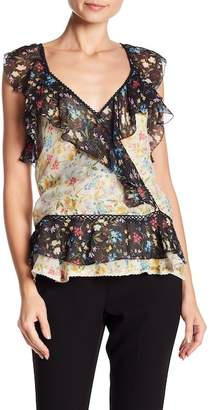 Love Sam Blossom Patterned Cap Sleeve Tank Top